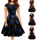 USA Vintage Women Polka Dot Swing 1950s Housewife Pinup Rockabilly Party Dress