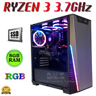 GAMING PC DESKTOP COMPUTER QUAD CORE i5  8GB RAM RADEON RX 570 4GB WIN 10 RGB