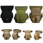 Men Canvas Hip Leg Bag Motorcycle Rider Tactical Military Belt Waist Fanny CH