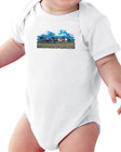 Infant Creeper Bodysuit One Piece T-shirt Horses Running Wild Field k-150