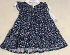 Carter's Baby Girl Navy Blue Floral Sleevless Dress NWT Sizes 3 M or 6 M