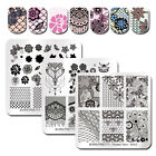 Flower Lace Series Nail Stamping Plates Square Nail Art Plates DIY BORN PRETTY