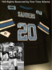 NEW Barry Sanders Detroit Lions Mens MN Black Alternate Throwback Jersey