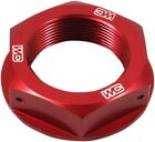 Works Connection Kawasaki KX KXF Red Anodized Aluminum Steering Head Nut