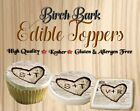 Wedding Birch bark heart edible cookie toppers images pictur