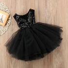 Toddler Girls Princess Dress Kids Party Wedding Pageant Lace Sequin Tutu Dresses