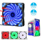 120mm 15 LED Light Neon Quite Clear Fans PC Computer CPU Cooling Case Fan Mod