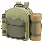 Deluxe Equipped 4 Person Picnic Backpack With Blanket