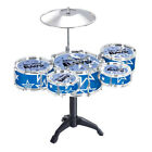 Child Drums Musical Toy Kit Drumsticks Chair Tools Plastic Gift High Quality