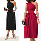 2018 Pockets Women Cocktail Dress One Shoulder Clubwear High Wiast Party Dresses
