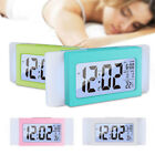 LCD Alarm Clock Digital Electronic Smart Snooze Light Sensor Kids Table Clock