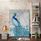 Peacock Oil Painting Canvas Print Art Wall Pictures Home Decor  Modern Unframed