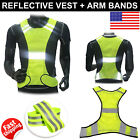 Внешний вид - Reflective Safety Vest Running Walking Cycling Adjustable Strap Breathable Holes