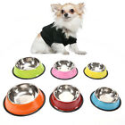 stainless steel dog bowls pet food water feeder for cat puppy dog feeder bowl X