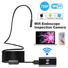 8 LED Rigid WIFI Endoscope Wireless Borescope Inspection Camera Android iPhone