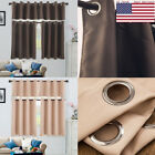 1PC Window Curtain Living Room Bedroom Door Kitchenette Bathroom Solid Color USA LSM