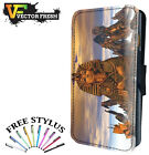 Egyptian Kings Pharaohs Royalty Statues - Leather Flip Wallet Phone Case Cover