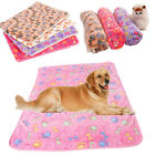 Cute Pet Cat Dog Puppy Bed Cushion S/L Paw Print Soft Blanket Coral Cashmere New
