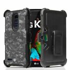 For LG Harmony 2 / Phoenix Plus Armor Clip Case Desert Battle Camo Tire