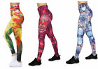 NEW ABSTRACT SKULL LEGGINGS Yoga Athletic Workout Gym FITNESS PANTS  L XL