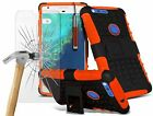 Shockproof Dual Layer Heavy Duty Case Cover+Glass Screen Protector for I Phones