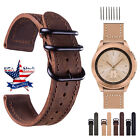 18 20 22 24mm Vintage Genuine Leather Watch Bands Wrist Strap For Fossil Q Band image
