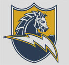 Cross stitch chart, San Diego, Chargers, NFL, American, Football, US. $12.5 USD on eBay