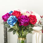 1pc Artificial Single Stem Rose Fake Silk Flowers Leaf Home Wedding Party Decor