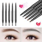 2 Pack Eyebrow Pencil Retractable Slant Tip With Brush Double-end Waterproof