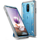 For LG Stylo 4 Rugged Case Poetic [Revolution] Cover With Tempered Glass 2 Color