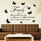 WALL QUOTES WALL ART DECAL STICKERS Family like branches Wall Quote Sticker N99