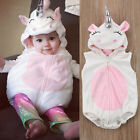 Cute 3D Unicorn Baby Costume Kids Girls Romper Jumpsuit Outfits Hooded Clothes