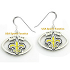 New Orleans Saints Football Logo Pendant Earrings With 925 Earring Wires $7.99 USD on eBay