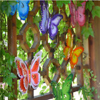 Metal Butterfly Fence Hanger Wall Yard Outdoor Lawn Garden Decor