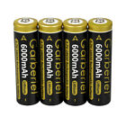 Garberiel 3.7V 18650 Battery Li-ion 6000mAh Rechargeable Battery + Dual Charger