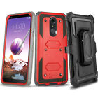 LG Stylo 4/3/2 Plus Belt Clip Stand Holster Case Cover BUILT-IN SCREEN PROTECTOR