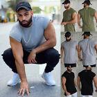 Gym Mens Sports Muscle T-shirt Short Sleeve Fitness Bodybuilding Tops Tee US image