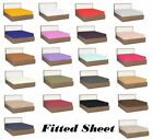 1000 TC Egyptian Cotton Deep Pkt Fitted Sheet Solid/Stripe All Color RV-King