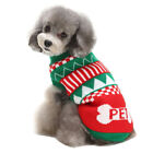 Christmas Theme Pet Sweater Dog Cat Warm Knit Crochet Pullover Springy Clothes A