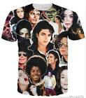 3D Print Casual T-Shirt Michael Jackson Graphic Womens/Mens Short Sleeve Tops