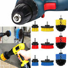 3PC Drill Brush Car Cleaner Tile Tire Tub Cleaning Grout Scrubber Bathroom Floor