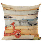 New Retro Transport Series Cotton and Linen Pillowcase Cushion Cover Office Home