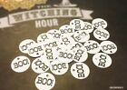 50pcs. HALLOWEEN SCALLOPED TAGS / BOO! ?? 1""