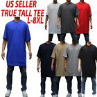 Big and tall tee S/S T-shirts Crew Neck Men Heavy Weight Plain  Solid 8OZ Tall 3 image
