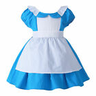 US STOCK! Toddler Girls Deluxe Alice in Wonderland Costume Storybook Party Dress