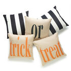 Halloween Gift Square Cotton Linen Throw Pillow Case Cushion