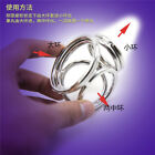 Stainless Cock/Rings Ball Stretcher Weight Scrotum Delay Ejaculation for Men