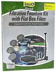 Tetra Pond Filtration Fountain Kit with Flat Box Filter(325 / 550 GPH)Free Ship