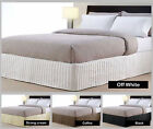 300TC - QUEEN sized Quilted Valance / Bedskirt - White Cream Coffee Black