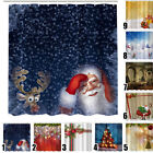Christmas Theme Shower Curtain Waterproof Polyester For Bath